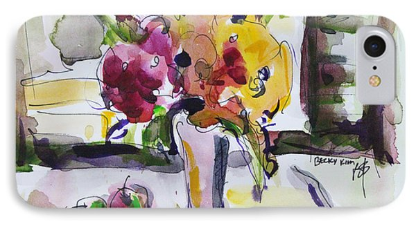 IPhone Case featuring the painting Joy Of Spring by Becky Kim