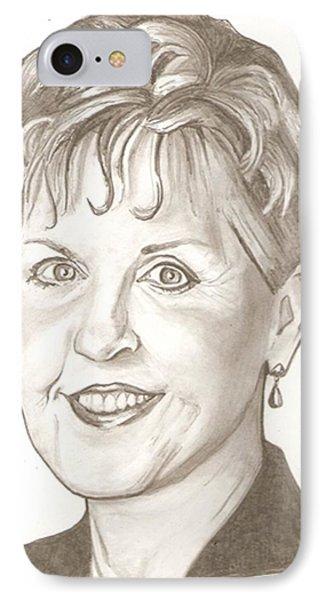 Joyce Meyer Drawing Phone Case by Robert Crandall