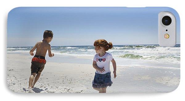 Joyful Play Of Children IPhone Case by Charles Beeler