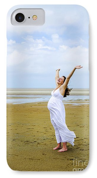 Joyful Pregnant Woman IPhone Case by Diane Diederich