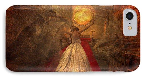 IPhone Case featuring the digital art Joyous Bride by Kylie Sabra