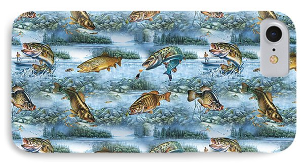Jq Lake Fish Bedding Pillow IPhone Case by Jon Q Wright