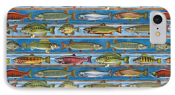 Jqw Fish Row Pillow IPhone Case by Jon Q Wright