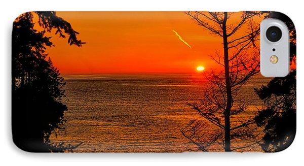 Juan De Fuca Sunset IPhone Case by Greg Norrell