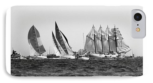 IPhone Case featuring the photograph Juan Sebastian Elcano Departing The Port Of Cadiz by Pablo Avanzini
