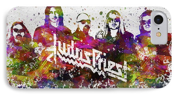 Judas Priest In Color IPhone Case by Aged Pixel