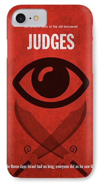 Judges Books Of The Bible Series Old Testament Minimal Poster Art Number 7 IPhone Case