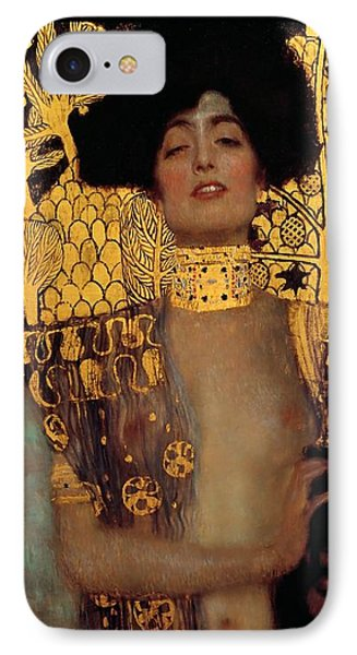 Judith And The Head Of Holofernes IPhone Case by Gustav Klimt