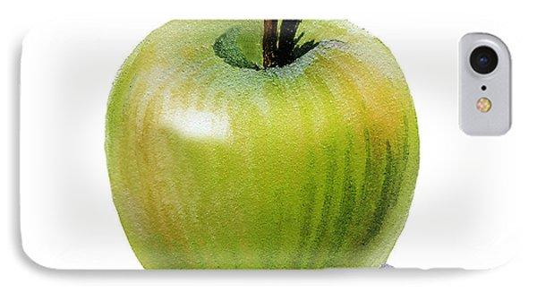 IPhone Case featuring the painting Juicy Green Apple by Irina Sztukowski