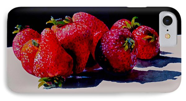 IPhone Case featuring the painting Juicy Strawberries by Sher Nasser