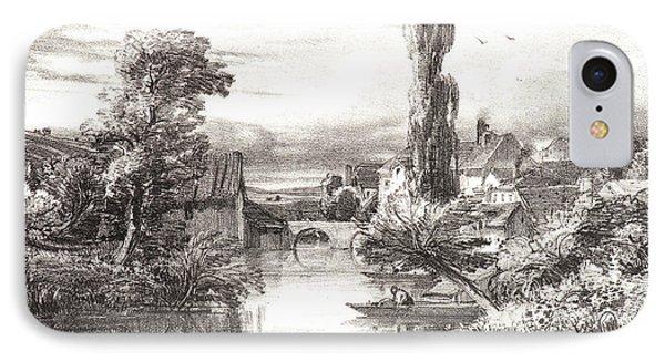 Jules Dupré French, 1811 - 1889. View In Alençon Vue IPhone Case by Litz Collection