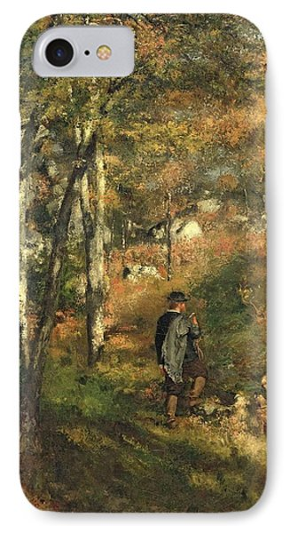 Jules Le Coeur In The Forest Of Fontainebleau, 1866 IPhone Case by Pierre Auguste Renoir