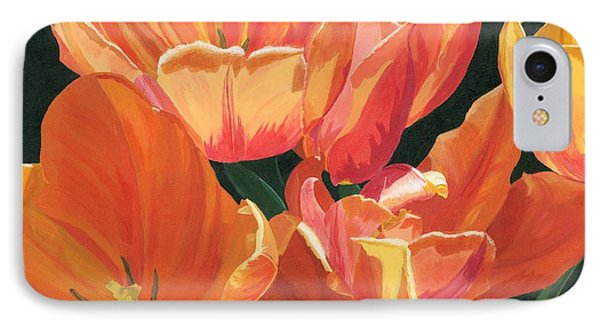 IPhone Case featuring the painting Julie's Tulips by Lynne Reichhart