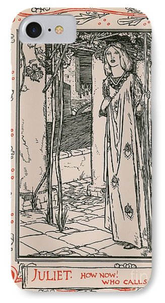 Juliet From Romeo And Juliet IPhone Case by Robert Anning Bell