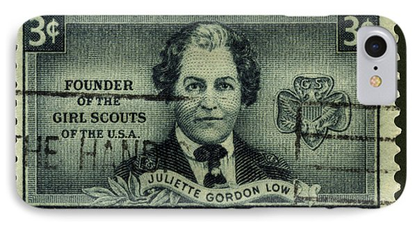 Girl Scouts Founder Juliette Gordon Low Postage Stamp IPhone Case