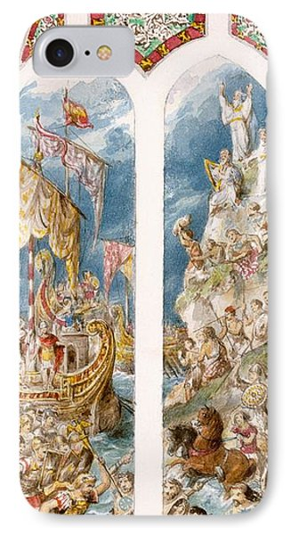 Julius Caesar Arrives On The Shores IPhone Case by William Bell & Boyd, Alice Scott