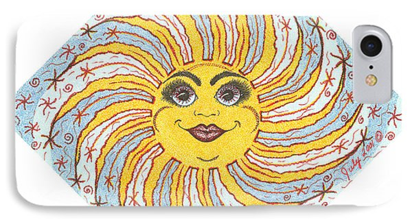 July Firecracker Sun IPhone Case by Beckie J Neff