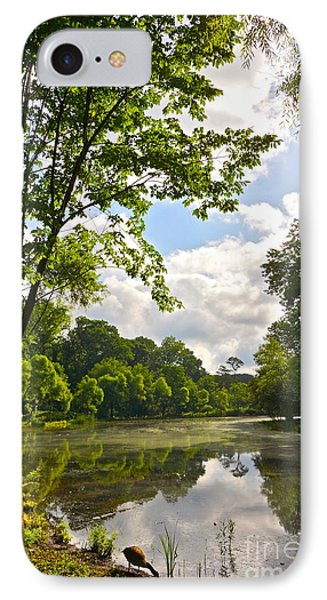 July Fourth Duck Pond With Goose Phone Case by Byron Varvarigos