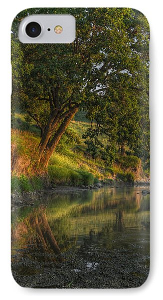 July Morning Along The Creek IPhone Case by Bruce Morrison