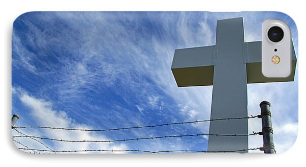 Jumonville Cross -- The Crucifixion Of Christ IPhone Case by Cora Wandel