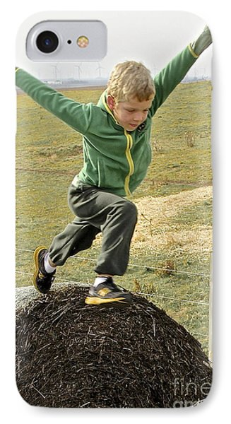 Jumping Haystacks IPhone Case