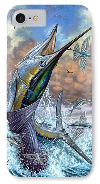 Jumping Sailfish And Flying Fishes Phone Case by Terry Fox