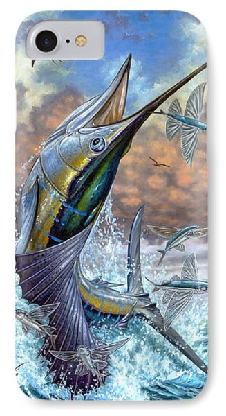 Jumping Sailfish And Flying Fishes IPhone Case