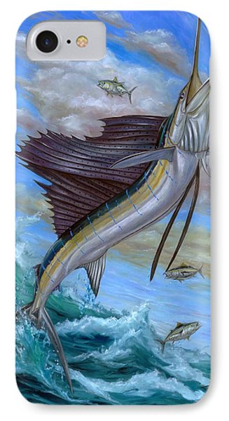Jumping Sailfish IPhone Case by Terry Fox