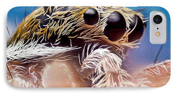 Jumping Spider Head IPhone Case