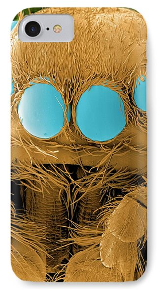 Jumping Spider's Head IPhone Case