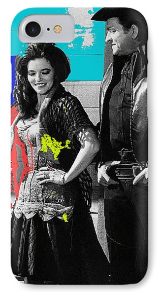 IPhone Case featuring the photograph June Carter Cash Johnny Cash In Costume Old Tucson Az 1971-2008 by David Lee Guss