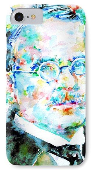 Jung - Watercolor Portrait.3 IPhone Case