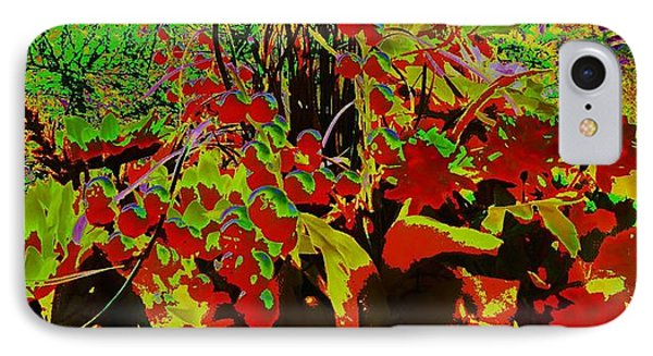 Jungle Abstract Phone Case by Mike Breau