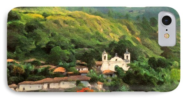 IPhone Case featuring the digital art Jungle Church Honduras by Spyder Webb