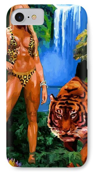 Jungle Girl IPhone Case