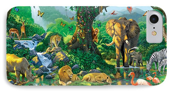 Jungle Harmony IPhone 7 Case by Chris Heitt