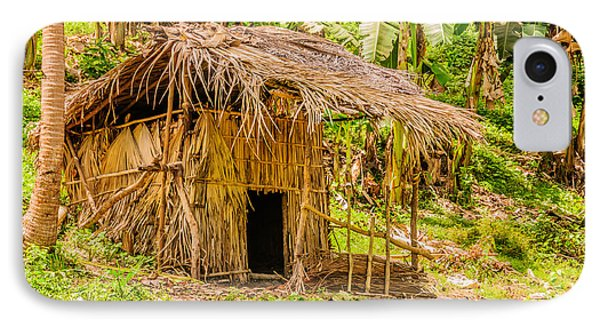 Jungle Hut In A Tropical Rainforest Phone Case by Colin Utz