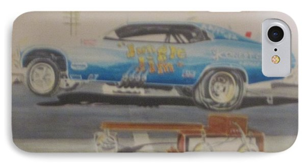 Jungle Jim Liberman's 1969 Nova Funny Car IPhone Case by Russell Boothe