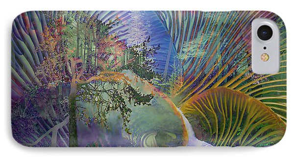 IPhone Case featuring the digital art Jungle Mushrooms by Ursula Freer