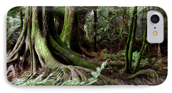 Jungle Trunks3 IPhone Case by Les Cunliffe