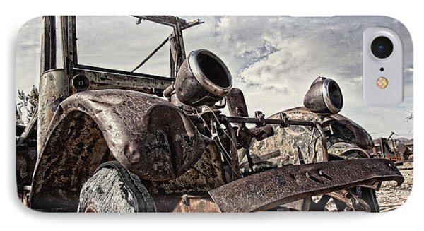 Junk Yard Sentinel Stands  IPhone Case by Lee Craig