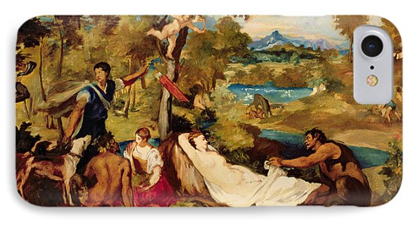 Jupiter And Antiope IPhone Case by Edouard Manet