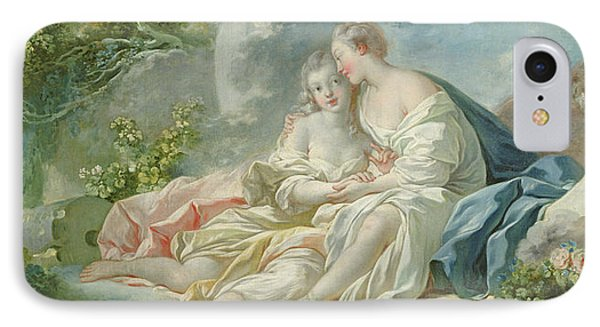 Jupiter Disguised As Diana Tries To Seduce Callisto, C.1753 Oil On Canvas IPhone Case by Jean-Honore Fragonard
