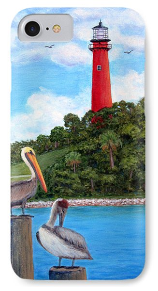 Jupiter Inlet Pelicans IPhone Case by Fran Brooks