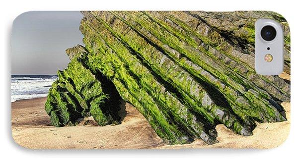 IPhone Case featuring the photograph Jurassic Coast Quiaios Beach by Menega Sabidussi