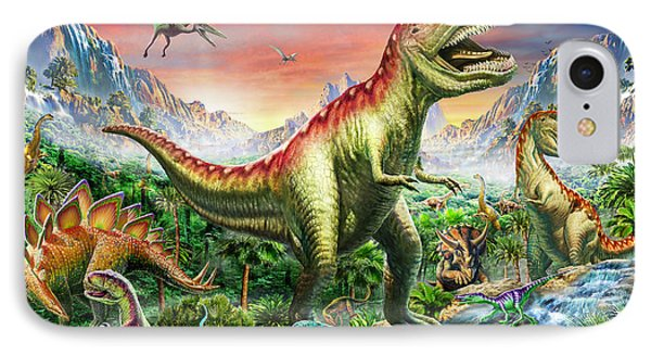 Jurassic Forest IPhone Case by Adrian Chesterman