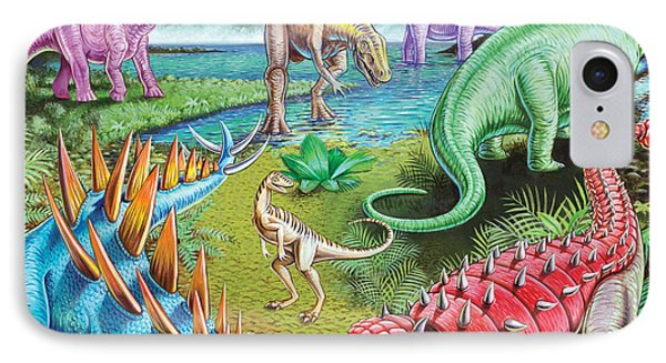 Jurassic Swamp Variant 1 IPhone Case by Mark Gregory