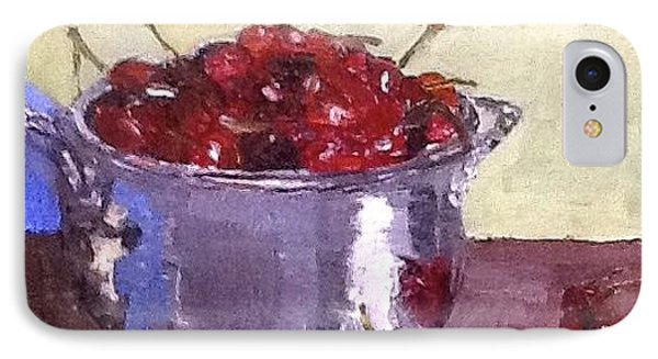 IPhone Case featuring the painting Just A Bowl Of Cherries by MaryAnne Ardito