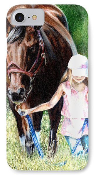 Just A Girl And Her Horse IPhone Case by Shana Rowe Jackson
