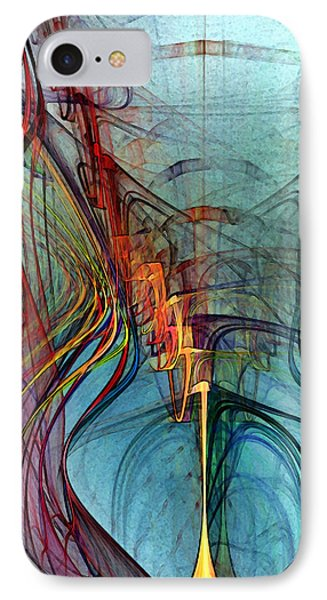 Just A Melody-abstract Art IPhone Case by Karin Kuhlmann